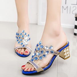 Ericdress Luxurious Rhinestone Chunky Mules Shoes