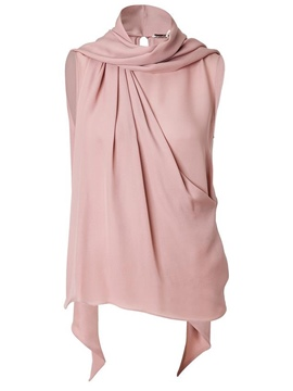Ericdress Pink Pleated Sleeveless T-shirt