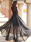 Ericdress Prom Floor-Length Solid Color Sleeveless Maxi Dress
