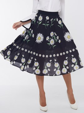 Ericdress Sweet Flowerl Print Skirt