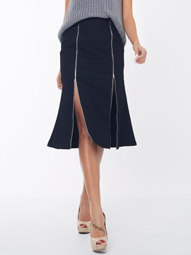 Ericdress Unique Zipper Skirt