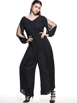 Ericdress Plain Plus Size Jumpsuits Pants