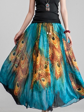Ericdress Blue Bohemian Skirt