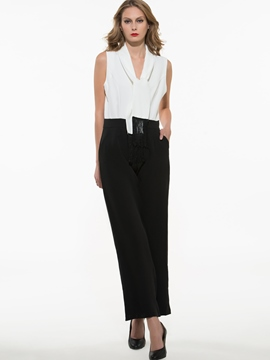 Ericdress Elegant Color Block Jumpsuits Pants