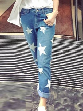 Ericdress Star Print Loose Jeans