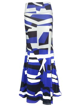 Ericdress Print Bodycon Maxi Skirt