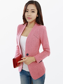 Ericdress Elegant One-Button Blazer