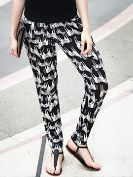 Ericdress Unique Print Harem Pants