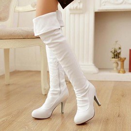 Ericdress Elegant Solid Color Knee High Boots