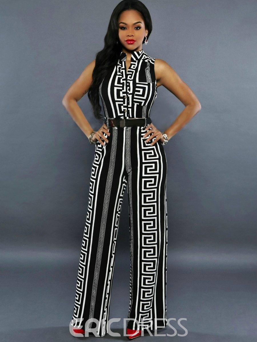 Ericdress Euro-American Style Print Jumpsuits Pants