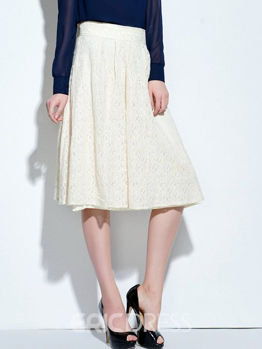 Ericdress Summer White Lace Usual Skirt