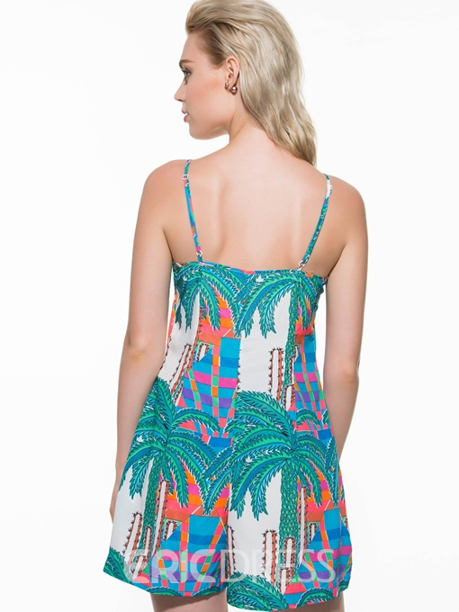 Ericdress Fashion Bohemia Print Rompers