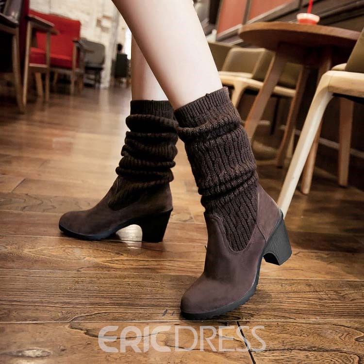 est High-quality Suede Knee High Boots