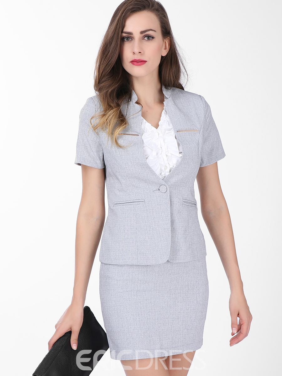 Ericdress Women's Short-Sleeve Blazer and Bodycon Skirt ...