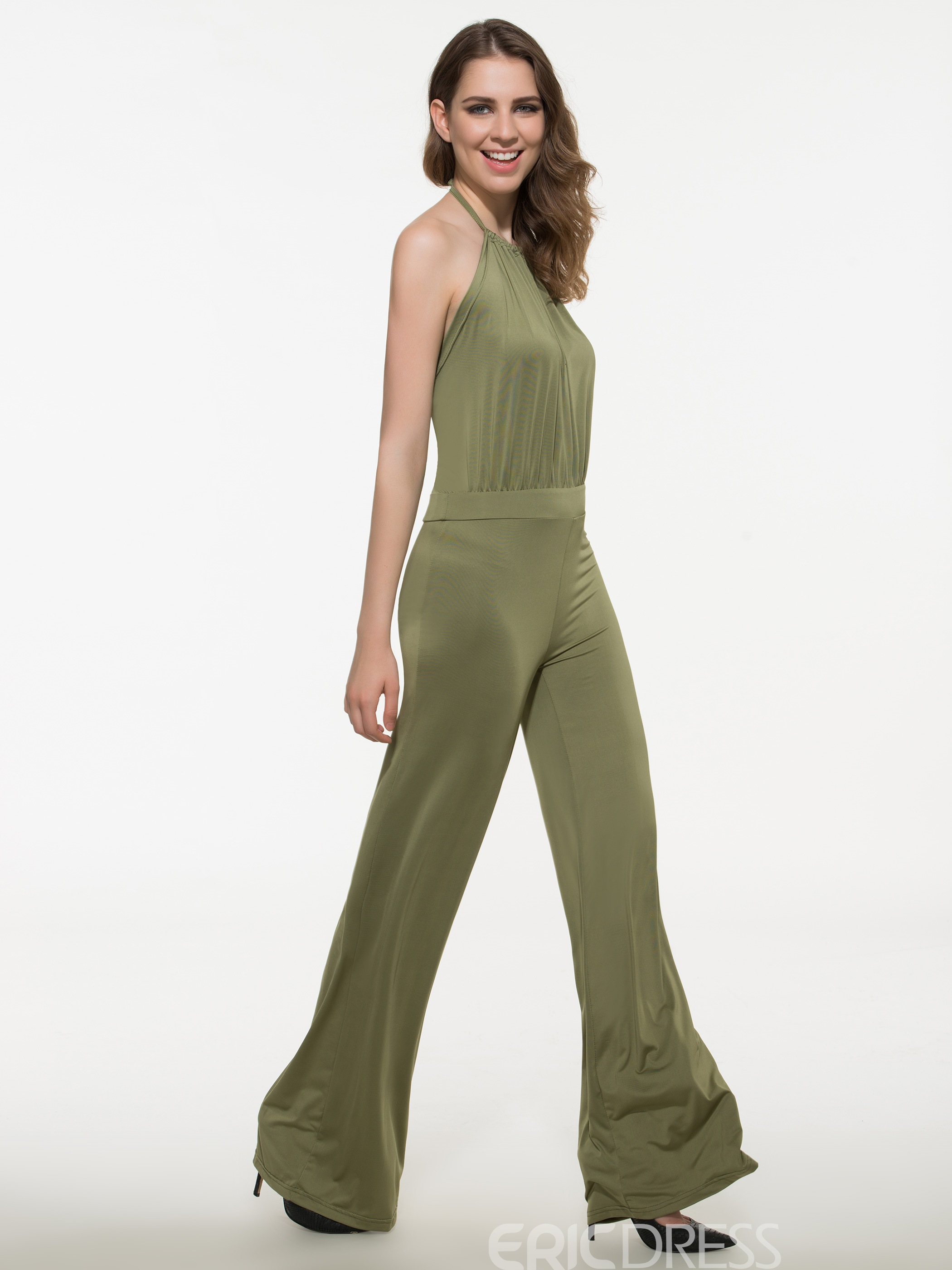 Ericdress Elegant Pleated Jumpsuits Pants