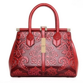 Ericdress Exotic Floral Embossed Handbag