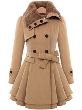 Manteau croisé Ericdress Lace-Up