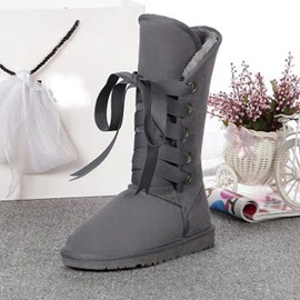 Ericdress Fashion Lace-up Knee High Boots