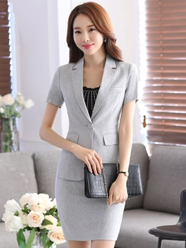 Ericdress Solid Color One-Button Formal Suit