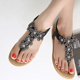Ericdress Lovely Flower Rhinestone Beach Sandals