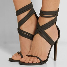 Ericdress Elegant Crossed Strap Stiletto Sandals