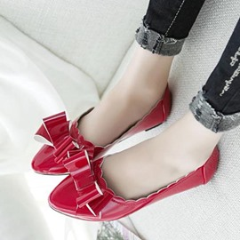 Ericdress Patent Leather Point Toe Flats