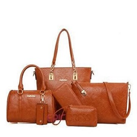 Ericdress Lastest Exotic Floral Embossed Handbags(6 Bags)