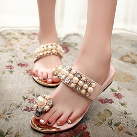 Ericdress Chic Rhinestone Slippers
