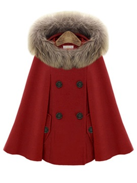 Ericdress Fox fourrure collier manteau en laine