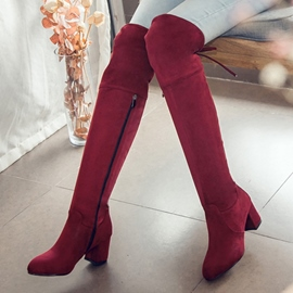 Ericdress Pretty Side Zip Knee High Boots