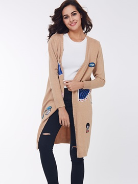 Ericdress Cute Appliques Long Knitwear