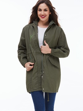 Ericdress Casual Loose Army Green Painted Coat