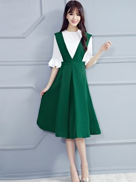 Ericdress Elegant Suspender Dress Suit
