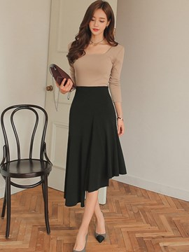 Ericdress Ladylike Asymmetric Skirt Leisure Suit