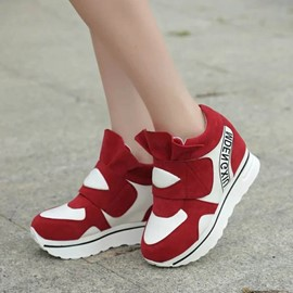 Ericdress Stylish Patchwork Elevator Heels Women's Sneakers