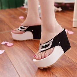 Ericdress Modern Contrast Color Rhinestone Mules Shoes