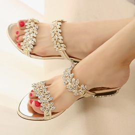 Ericdress Trendy Glittering Rhinestone Mules Shoes