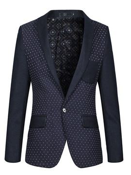 Ericdress Patchwork Lapel Polka Dots Men's Coat