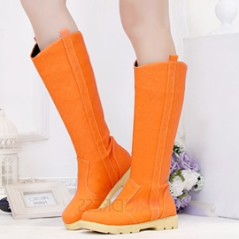 Ericdress Pretty Flat Knee High Boots