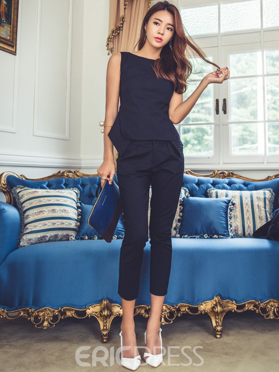 Ericdress Fashion Seven Points Pants Suit