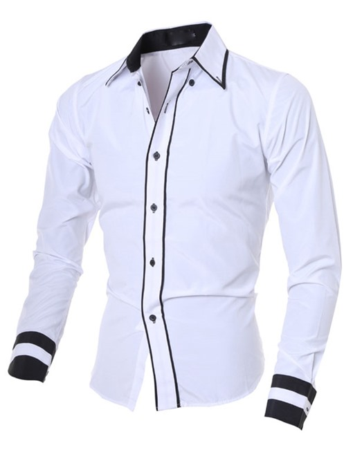 Ericdress Color Block Lapel Single-Breasted Shirt
