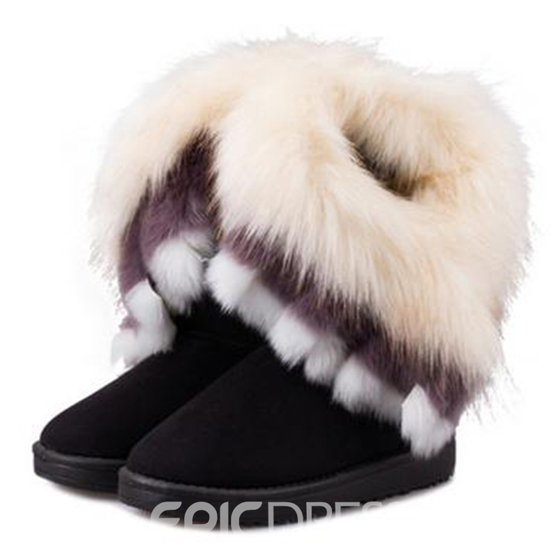Ericdress Fashion Boots with The Fur
