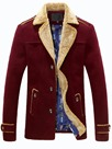 Ericdress Faux Fur Lapel Single-Breasted Men's Coat