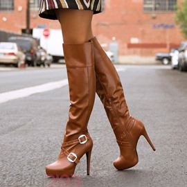 Ericdress Hot Selling Buckles Decoration Knee High Boots