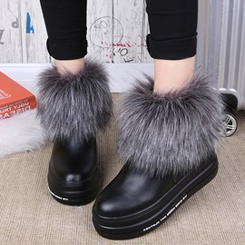 Ericdress Delicate PU Furry Snow Boots