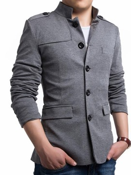 Ericdress Mandarin Collar Single-Breasted Men's Coat
