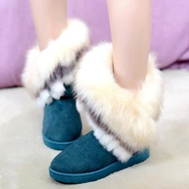 Ericdress Sweet Furry Slip on Snow Boots