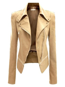 Ericdress Big Lapel PU Jacket