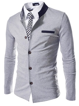 Stand Collar Single-Breasted Cotton Coat