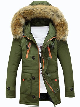 Ericdress Pelzkragen verdicken Outdoor-warme Winter Herrenmantel